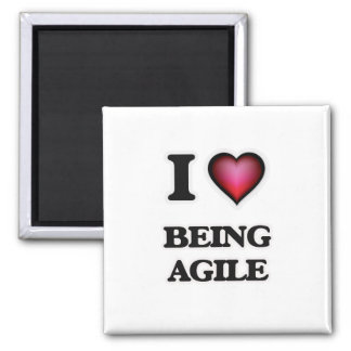 I Love Being Agile Magnet
