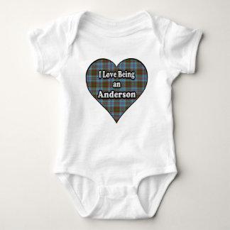 I Love Being an Anderson Clan Tartan Baby Bodysuit