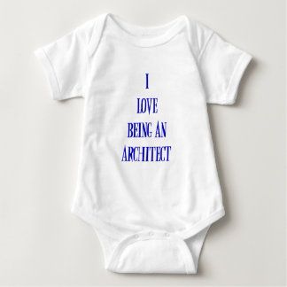 I love being an architect baby bodysuit