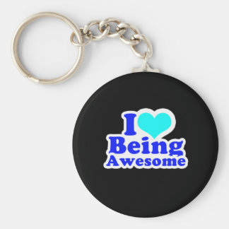 I LOVE BEING AWESOME (2) T-shirt Key Ring