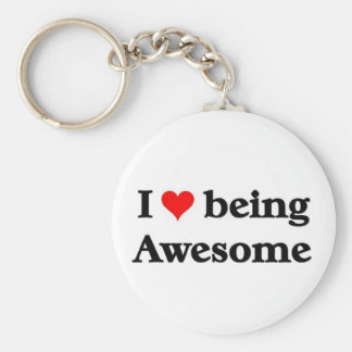 I love being awesome key ring