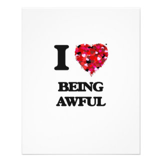 I Love Being Awful 11.5 Cm X 14 Cm Flyer