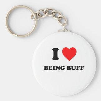 I Love Being Buff Key Ring