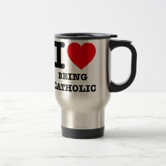 I Love Being Catholic Travel Mug
