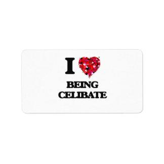 I love Being Celibate Address Label