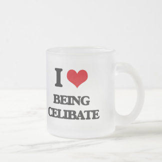 I love Being Celibate Frosted Glass Mug
