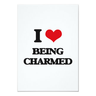 I love Being Charmed 9 Cm X 13 Cm Invitation Card