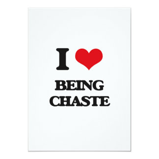 """I love Being Chaste 5"""" X 7"""" Invitation Card"""