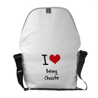 I love Being Chaste Commuter Bag