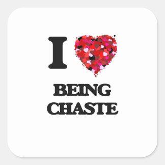 I love Being Chaste Square Sticker