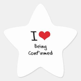 I love Being Confirmed Star Sticker