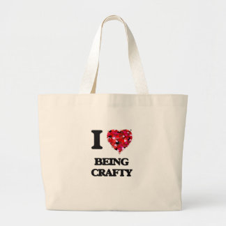 I love Being Crafty Large Tote Bag