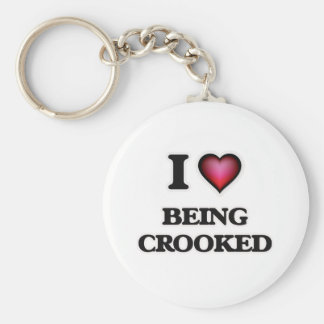 I love Being Crooked Key Ring