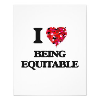 I love Being Equitable 11.5 Cm X 14 Cm Flyer