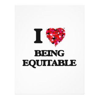 I love Being Equitable 21.5 Cm X 28 Cm Flyer