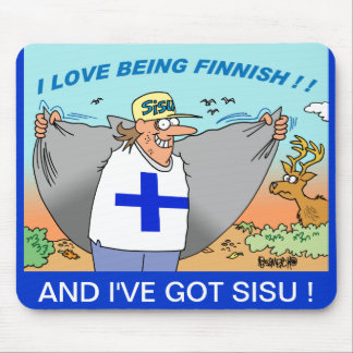 I LOVE BEING FINNISH MOUSEPADS