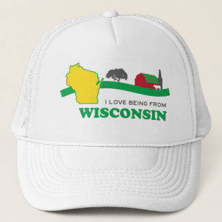 I love being from Wisconsin Trucker Hat Old School
