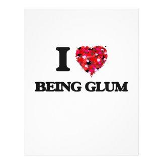 I Love Being Glum 21.5 Cm X 28 Cm Flyer