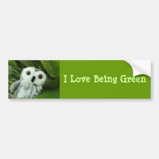 I Love Being Green Bumper Sticker