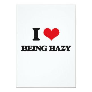 "I Love Being Hazy 5"" X 7"" Invitation Card"