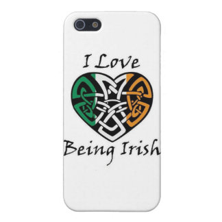 I Love Being Irish Celtic Heart iPhone 5 Cases
