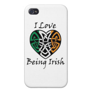 I Love Being Irish Celtic Heart Cases For iPhone 4