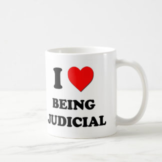 I love Being Judicial Basic White Mug