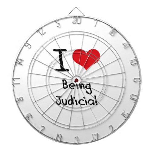 I love Being Judicial Dartboard With Darts