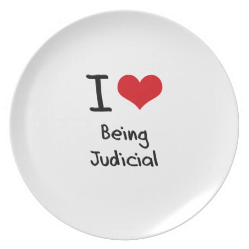 I love Being Judicial Party Plates