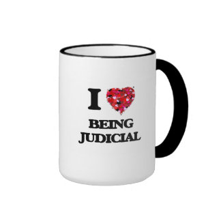 I love Being Judicial Ringer Mug