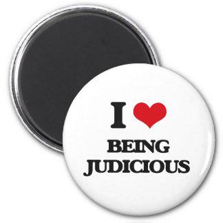 I Love Being Judicious 6 Cm Round Magnet