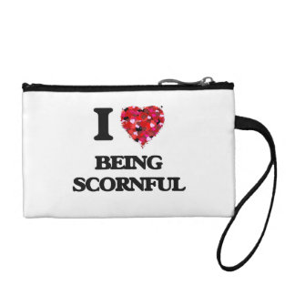 I Love Being Scornful Coin Wallets