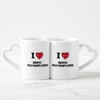 I Love Being Self-Employed Couples Mug