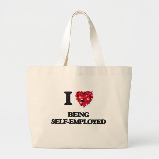 I Love Being Self-Employed Jumbo Tote Bag