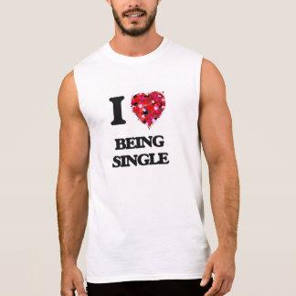 I Love Being Single Sleeveless Tee