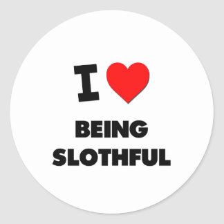 I love Being Slothful Stickers