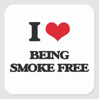 I love Being Smoke-Free Square Sticker