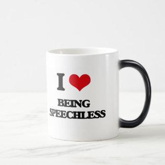 I love Being Speechless Mugs