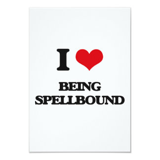 "I love Being Spellbound 3.5"" X 5"" Invitation Card"