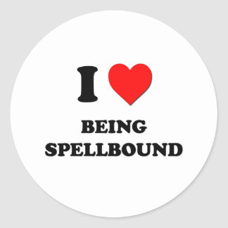I love Being Spellbound Round Sticker