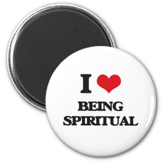 I love Being Spiritual Fridge Magnets