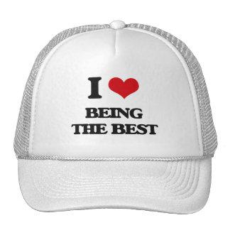 I Love Being The Best Trucker Hat