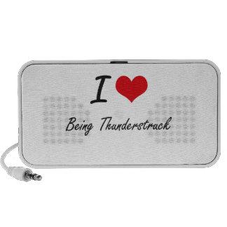 I love Being Thunderstruck Artistic Design Portable Speaker