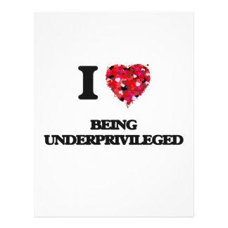 I love Being Underprivileged 21.5 Cm X 28 Cm Flyer
