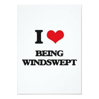 "I love Being Windswept 5"" X 7"" Invitation Card"