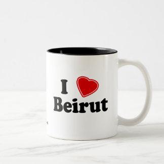 I Love Beirut Two-Tone Coffee Mug