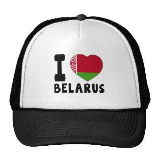 I Love Belarus Cap