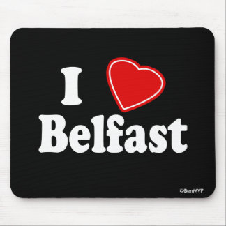I Love Belfast Mouse Pads