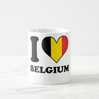 I Love Belgium Belgian Flag Heart Coffee Mug