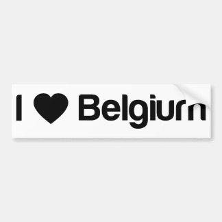 I Love Belgium Bumper Sticker